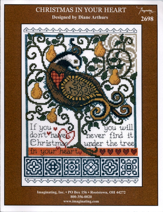 Imaginating inc christmas in your heart cross stitch