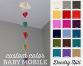 100% Merino Wool Felt Baby Mobile - Eco-Friendly - Rich, Lightfast Colors - Heirloom Quality - Choose Your Own Color Balloon String Mobile