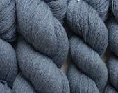 Blue Merino Yarn, Storm Cloud Lace Weight Recycled Italian Merino Yarn, 1171 Yards Available