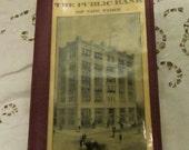 Antique Bank Passbook Holder / 1920s / New York Bank / Men Wallet