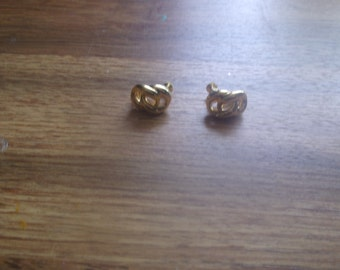 vintage screw back earrings napier goldtone