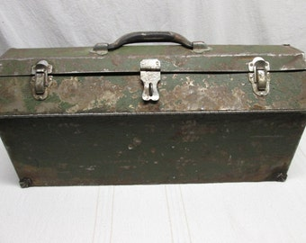 Large S&K Steel Tool Box, Metal Tool Box