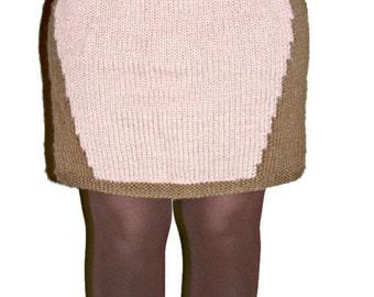 Mini Skirt Knitted Slimming Skirt, Contouring Skirt  Mini Skirt Body Slimming Skirt  Hand Knit Mini Skirt