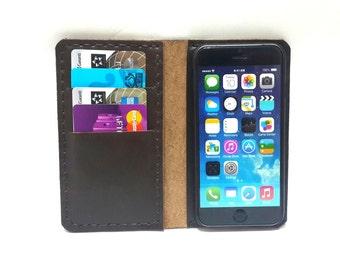 brown Phone 6 plus case, protective iPhone 6 plus case, leather iPhone 6s plus case, wallet, iPhone 6s plus case, leather iPhone se case