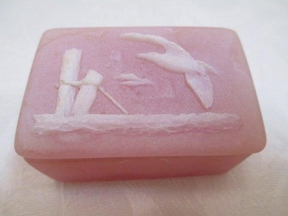 Vintage trinket box pink soapstone design gifts for Decor products international inc