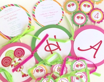 Lollipop Birthday Party Package