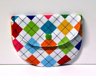 Argyle Remix Pacifier Pouch, Pacifier Pouch, Pacifier Holder, Coin Purse, Small Wallet, Card Holder, Small Wallet, Binky Pouch, Pacifier
