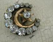 Gorgeous Antique French Paste Honeymoon Pin