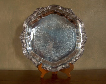 Vintage Warming Tray FB Rogers Footed Silver Plate Electric Working Original Cord Rare
