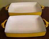 Set dansk kobenstyle yellow enamel cookware