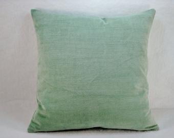 Velvet Teal Decorative Pillow Accent  Pillow Throw Pillow 16x16 Pillow Cover