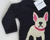 French Bulldog Bodysuit, French Bulldog baby