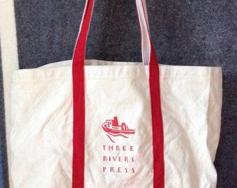 1992 NYC Three Rivers Press canvas tote bag USA