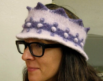 Funky Two-Tone Purple Women's Winter Crown