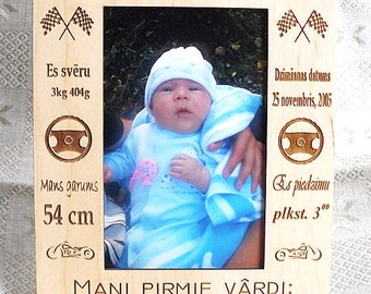 Personalized Baby Frame, Personalized frame, Baby picture frames, Personalized picture frames, Newborn Baby Gift, Baby Shower Gift,Art frame