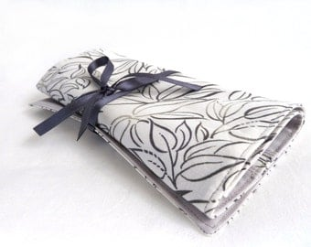 Travel Jewelry roll Eucalyptus- Made to order