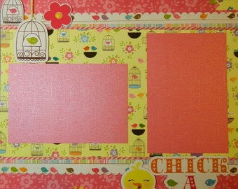 Chick A Dee - 12x12 premade 1 Page Scrapbook Layout