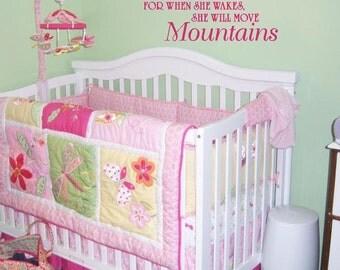 Let her sleep Vinyl Decal Saying Nursery Girl's Bedroom Wall Lettering Vinyl Decal