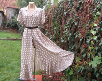 Big Buttoned Dress Vintage / Large / Size EUR54 / UK26 / Long / Maxi