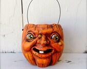 Primitive Halloween Folk Art  Pumpkin JOL Candy Cup EHAG HAFAIR