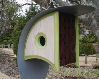 BIRD HOUSE with a View | MODERN Birdhouses | Mid Century Modern Birdhouse