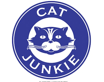 Cat Junkie Sticker