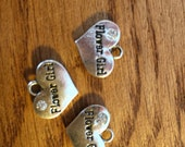 WITH NECKLACE or  BRACELET. Add a flower girl pendant to your flower girl necklace or bracelet for 1 dollar