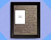1 Corinthians 13: 4-8 Love is patient..Love Never Fails, Mother Daughter Frame, Mom, Dad, Bible Verse Wall Art, Scripture Quote Wedding Gift