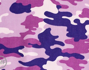 Cool Cords Purple Orchid Camo, Studio RK for Robert Kaufman Fabrics, 100% Cotton 21 Wale Corduroy Fabric, SRK-14798-19 ORCHID