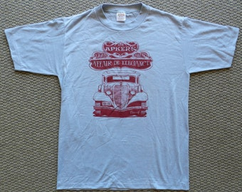 vintage Apkers T Shirt NOS 80s Sportswear tee classic cars Medium antique Zenith '84