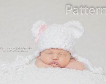 PDF CROCHET PATTERN Bear Ear Flap Hat, Ear Flap Hat, Baby Boy Hat, Baby Girl Hat, Crochet Baby Hat, Newborn Baby Hat, Newborn Prop, Baby Hat