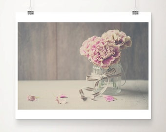 pink carnation photograph pink flower photograph still life photograph wedding bouquet print romantic print floral print