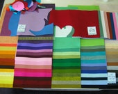 12 x18 inch WOOL BLEND FELT collection 66 full sheets plus 13 partial; high quality lot beautiful colors versatile doll sewing scrapbooking