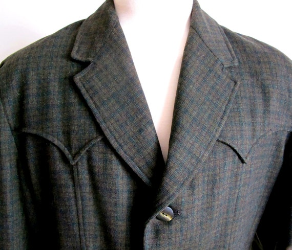 Blazers Stream: Vintage 60s Field And Stream Wool Coat Size Large Western