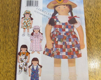 """My Little Sister Doll's Clothing Wardrobe - Complete 35"""" Doll Closet / Doll Clothing Set - UNCUT Sewing Pattern Butterick 4425"""