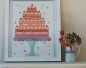 Celebration Cake Embroidery Kit