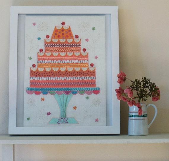 Items Similar To Celebration Cake Embroidery Kit On Etsy