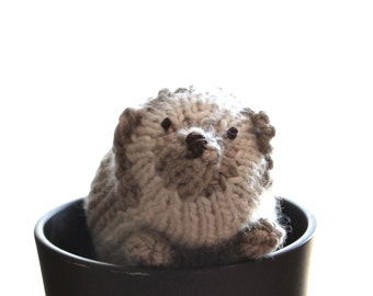 Happy Knitted Hedgehog Pattern PDF