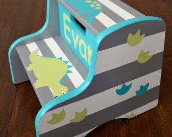 Dinosaur Step Stool, Children's Step Stool