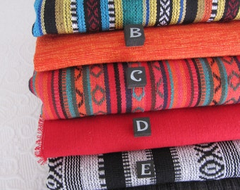 Yoga Mat Bags - choose from these AMAZING MEXICAN WOVEN fabrics - custom made, pure cotton.