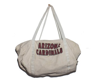 Vintage Arizona Cardinals Heavy Canvas Duffle Bag Sports Bag Carry All Travel Duffel