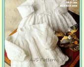 PDF Knitting Pattern for Baby Matinee Coat and Matching Dress