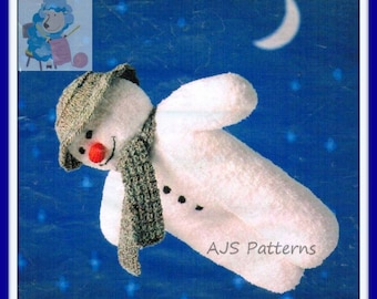 PDF Knitting Pattern For Christmas Festive Toy -The Flying Snowman - Instant Download