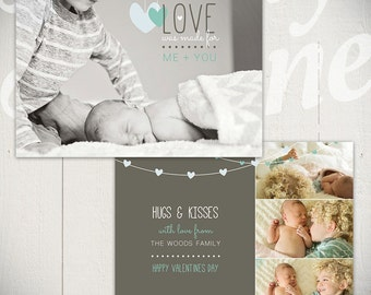 Valentines Day Card Template: Me + You D - One 5x7 Baby Valentine Card Template