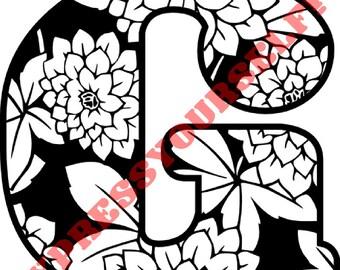 SVG, Dahlia's Dream Digital cut file ....SVG and PNG