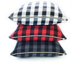 "Buffalo Check Plaid Black & White 24"" Pillow"