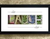 LIVE LAUGH LOVE - Alphabet Photography, Home Decor, Inspirational Sign