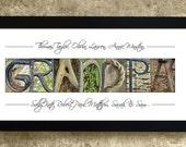 GRANDPA - Alphabet Letters Photography, Personalized Gift, Home Decor, Personalized Grandpa Print