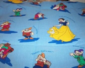 Fabric Snow White And The 7 Dwarfs New Fat Quarter BTFQ