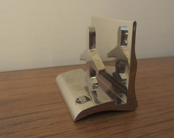 Silver ups airplane letter holder.  Office decor and organizer.